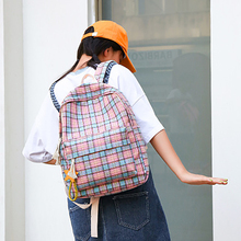 Fashion Plaid Backpack For Women Harajuku Style Campus Student Girls Schoolbag Large Capacity Casual Ladies Travel Back pack New