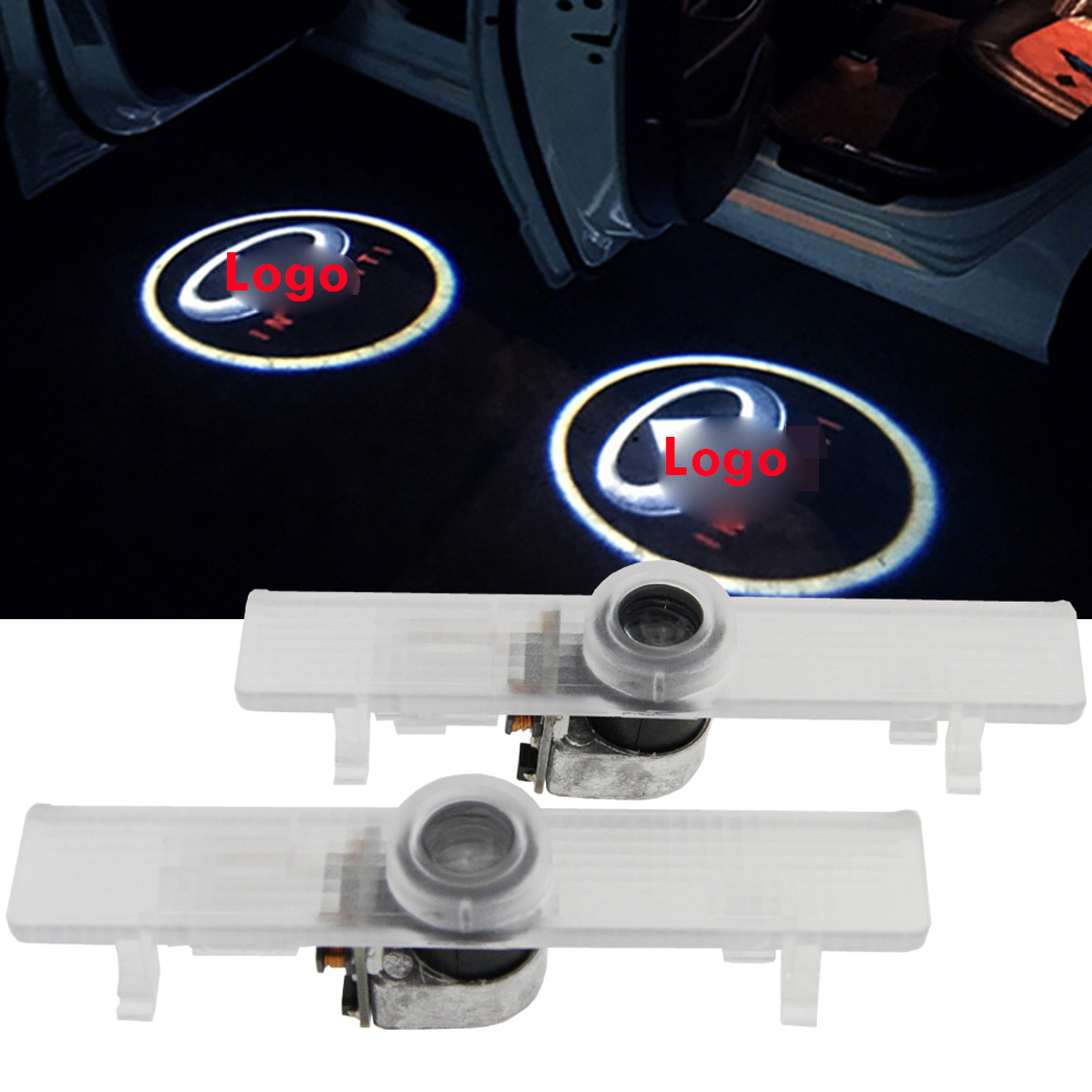 2x LED Car door courtesy laser projector Logo Ghost Shadow Light Infiniti QX56 2004-2010 JX35 2013-2014 QX60 2014
