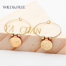 2016 Trendy Style Gold Round Circle Geometric Hoop Earrings Simple & Minimalist Design Fashion Earrings Jewelry For Women