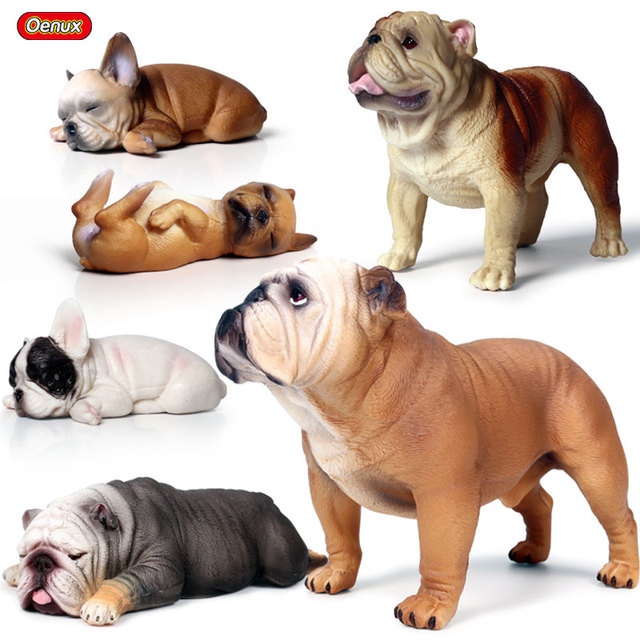 Oenux Classic French Bulldog Simulation Cute Puppy Animal Action