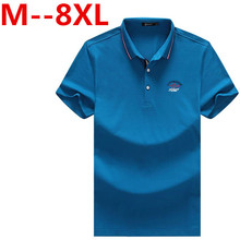 Plus size 10XL 9XL 8XL 6XL 5XL Men Polo shirt Solid Color Short-Sleeve Slim Fit Shirt Men Cotton polo Shirts Casual Camisa Polo