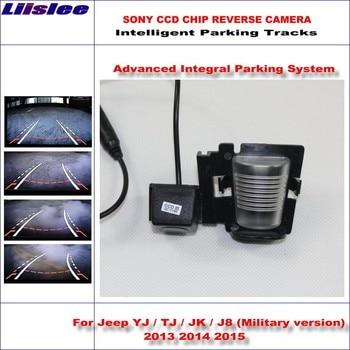 Liislee Backup Rear Reverse Camera For Jeep YJ / TJ / JK / J8 (Military version) 2013-2015 / HD Lines Intelligent Parking Tracks