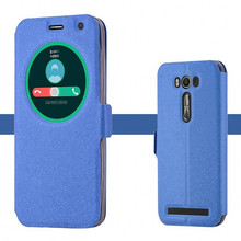 Для Asus Zenfone 2 Laser ZE550KL чехол бесплатно флип окна Z00LD подставка держатель внутренняя Силиконовая задняя крышка 5.5 «кожа телефон случаях