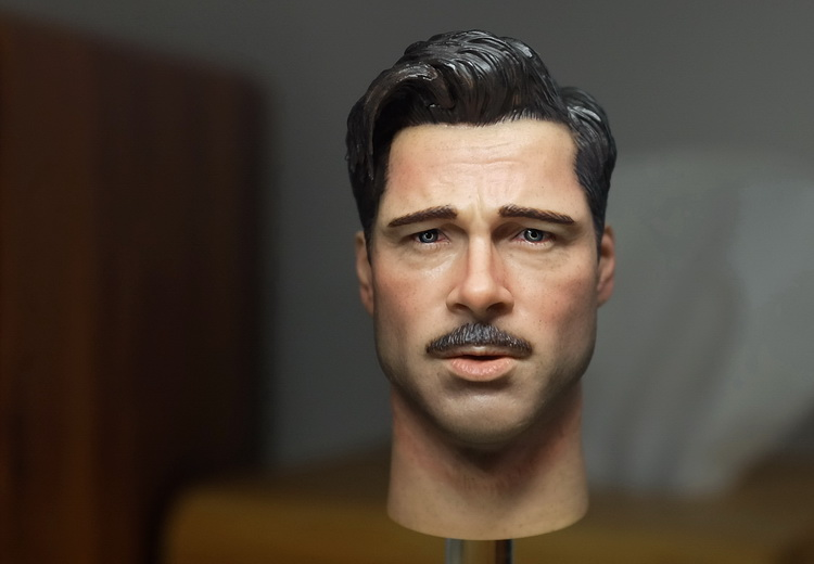 1 6 scale figure accessory Inglourious Basterds Brad Pitt Head shape carved for 12 action figure