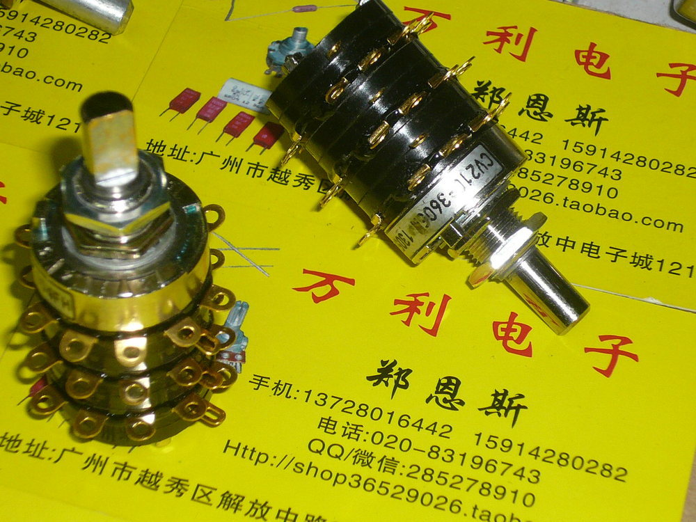 BELLA New imported gold plated rotary band switch contact point two five speed three 5PX5PX5P