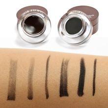 6 In 1 Brown + Black Waterproof Gel Eyeliner & Eyebrow Powder Makeup Kit Hot Wom