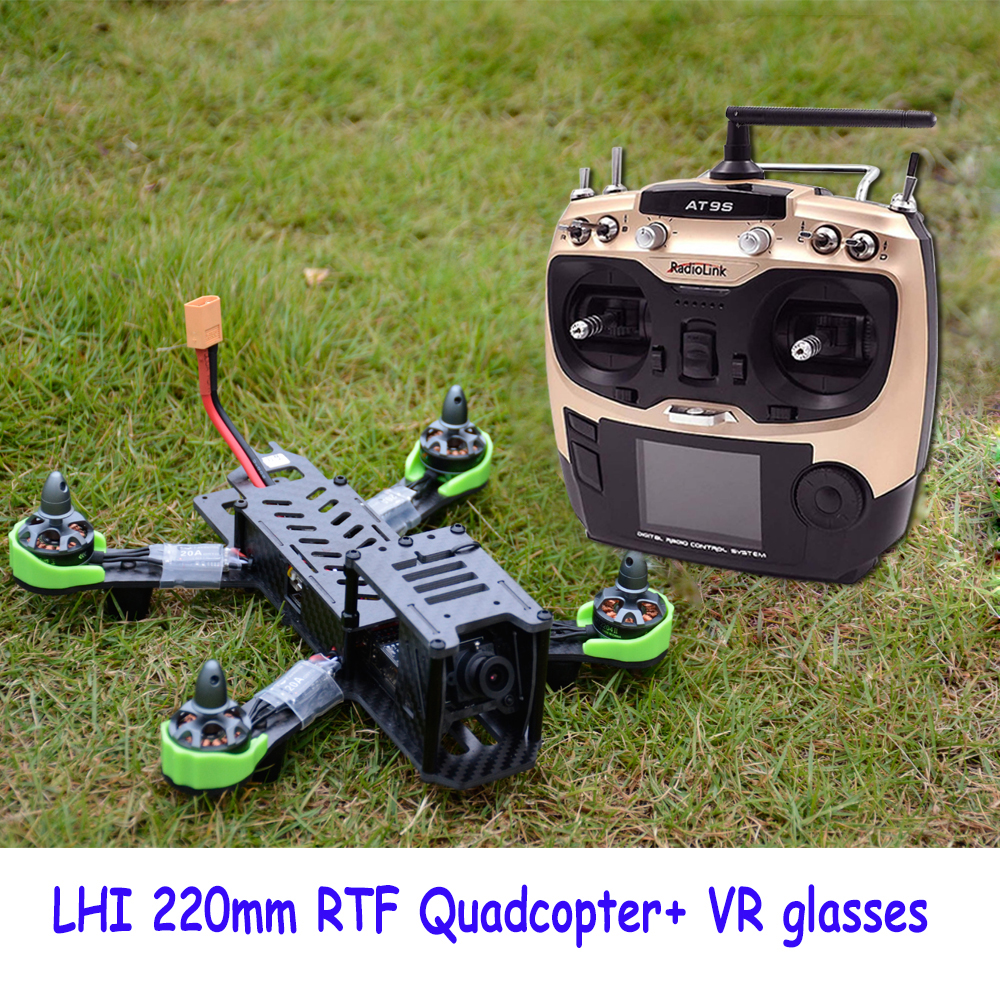 цена на Drones Camera with quadrupter flight Simulator At9s Radiolink 2.4g Remote Control 5.8g Rc Airplane Qav Zmr 220mm Quadcopter
