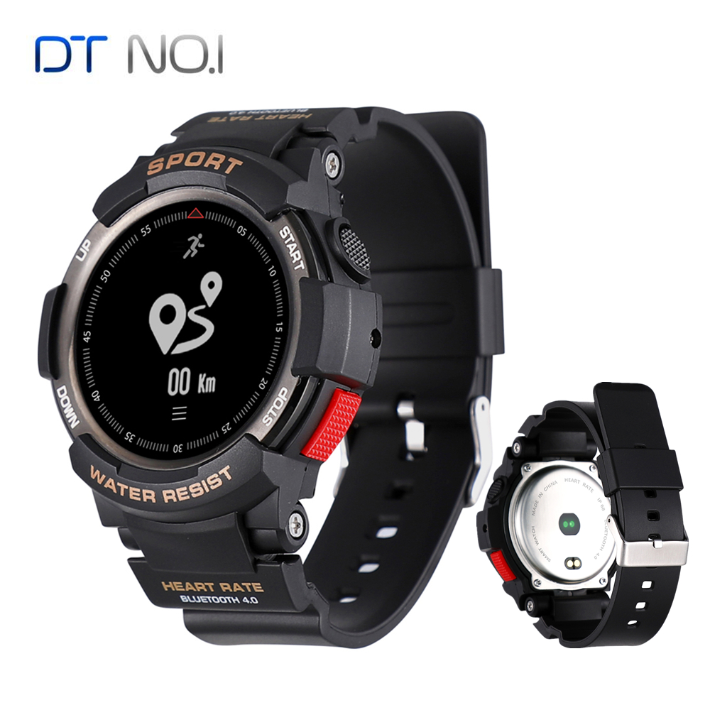 NO 1 F6 IP68 Waterproof Smart Watch NRF51822 Sleep Monitor Remote Camera Watch Men Outdoor Sports