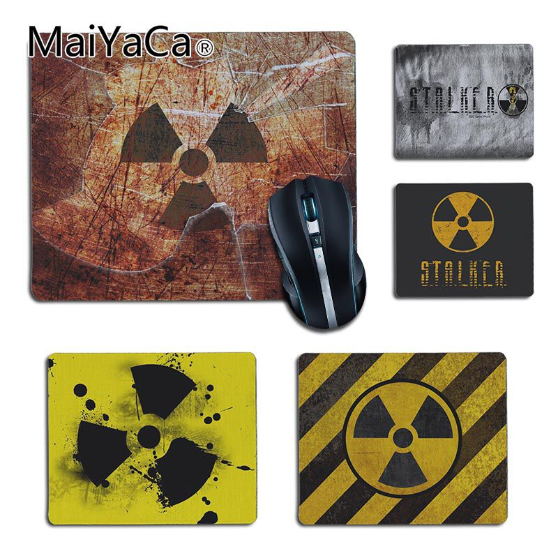 MaiYaCa Stalker Logo Comfort Small Mouse Mat Gaming Mouse Pad Mouse Keyboards Mat Anime Mousepad For Boyfriend Cs Go Lol Gamer