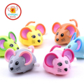 IQANGLE New Hot Colorful Mouse Rat Wind Up Toys Clockwork Toy Baby Kid Running Spring Toy Children Newborn Baby Mini Pet Animal