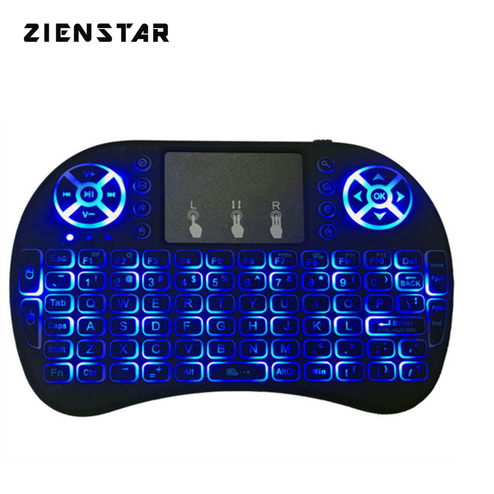 Zienstar Mini Draadloze Toetsenbord 3 Kleur LED Backlit 2.4 GHz Air - Computerrandapparatuur - Foto 1