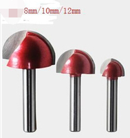 Shank Diameter 6 Mm Round Lace Knife Cutter Carving Semicircle Ball Knife Cutter Machine Tool 4pcs