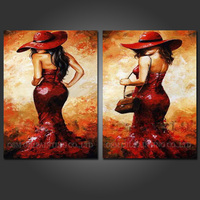 Artist Handmade Hot Body Sex Lady Oil Painting for Wall Art Picture Beautiful Lady with Dress for Wall Oil Painting Artwork