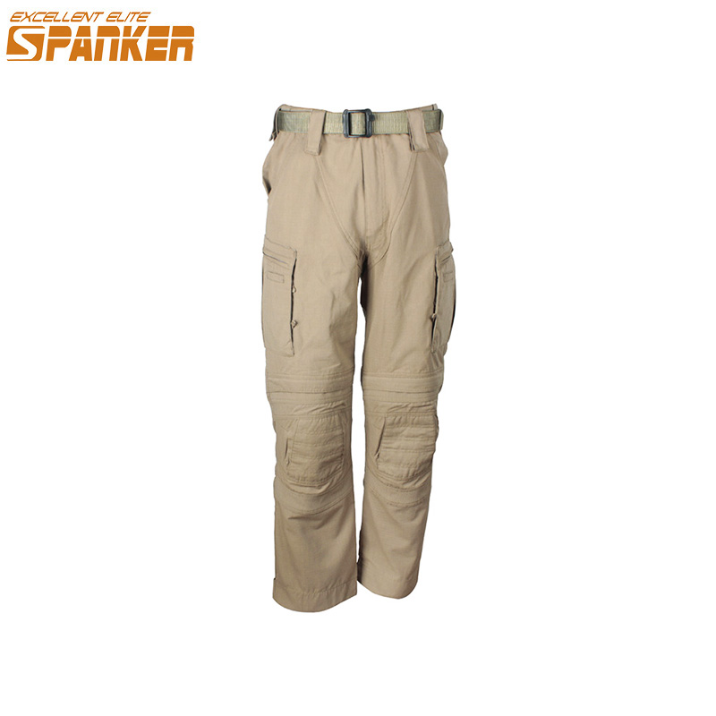 EXCELLENT ELITE SPANKER Outdoor Men's Hunting Cargo Pants Tactical Camouflage Men Trousers Multi Pocket Military Combat Pant outdoor loose fit straight leg multi pocket solid color zipper fly cargo pants for men