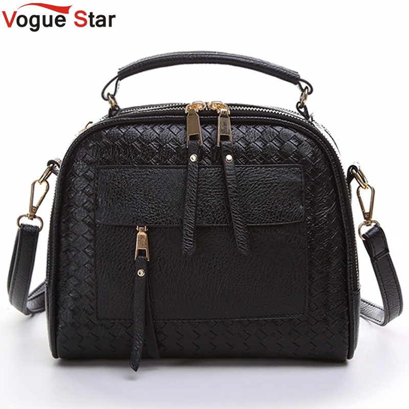 Vogue Star 2018 New Arrival Knitting Women Handbag Fashion Weave Shoulder Bags Small Casual Cross Body Messenger Bag Totes LA451 shaggy women s side bang short siv hair human hair wig