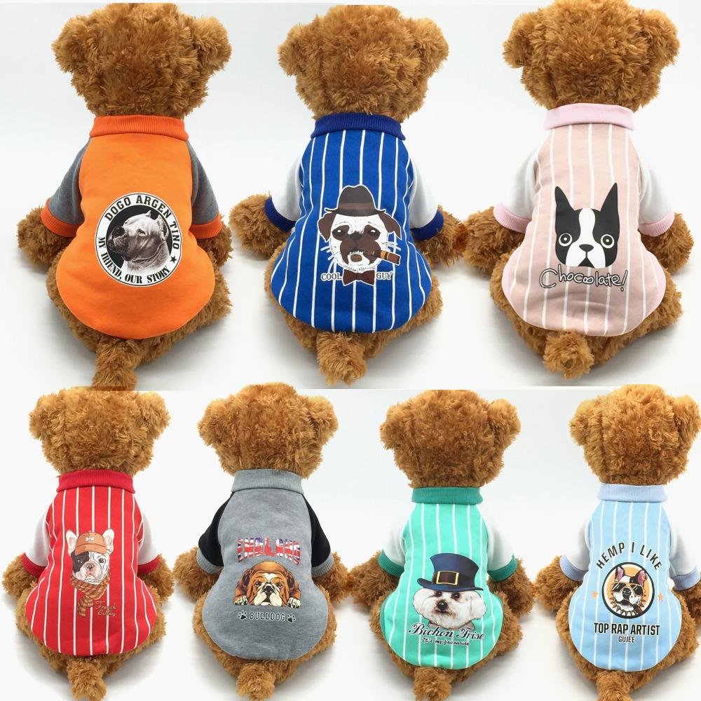 ULTRASOUND PET Dog Clothes Cat Coat Jacket Teddy Chihuahua Bulldog Clothes Small Dogs Two Legs Puppy Leisure Style Size S-XXL