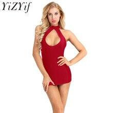 03f848c34bb5203 YiZYiF пикантные для женщин Лето Супер Мини платье клуб мягкая ткань  vestido платья для Холтер средства ухода за кожей Шеи вырез