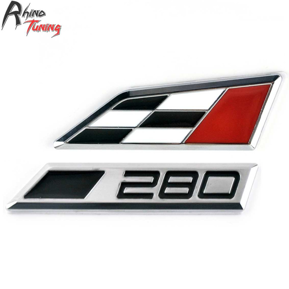 Rhino Tuning Car Styling Metal Lettering Emblem Badge Auto Racing Logo Sign Sticker For 2014 Leon Cupra 20795 3d metal auto car performance badge decal fender emblem for trd sports racing