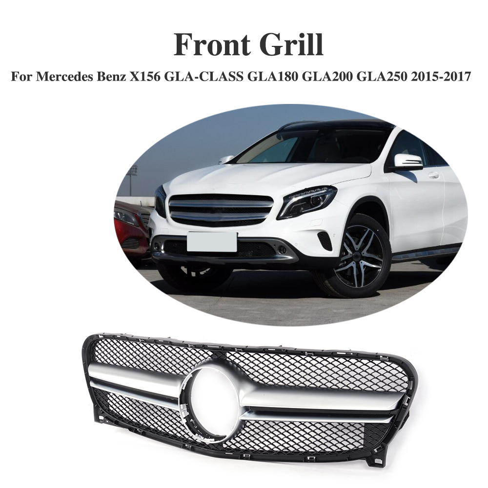 ABS Front Bumper Grille Cover Trim Accessories For Mercedes Benz X156 GLA-CLASS GLA180 GLA200 GLA250 2015-2017ABS Front Bumper Grille Cover Trim Accessories For Mercedes Benz X156 GLA-CLASS GLA180 GLA200 GLA250 2015-2017