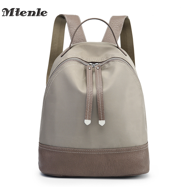3865e57590 MTENLE Designer Women s Backpacks Oxford Back Pack Female School Bags Teenage  Girls College Student Casual Bag Travel Mochila FI