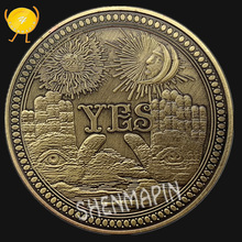 Yes No Yes No Culture Art Decision Commemorative Coin Three-dimensional Retro Pattern Bronze Coins Collectibles Sun Moon Coins russian three rubles commemorative coin george cross coins collectibles moscow coins of russia