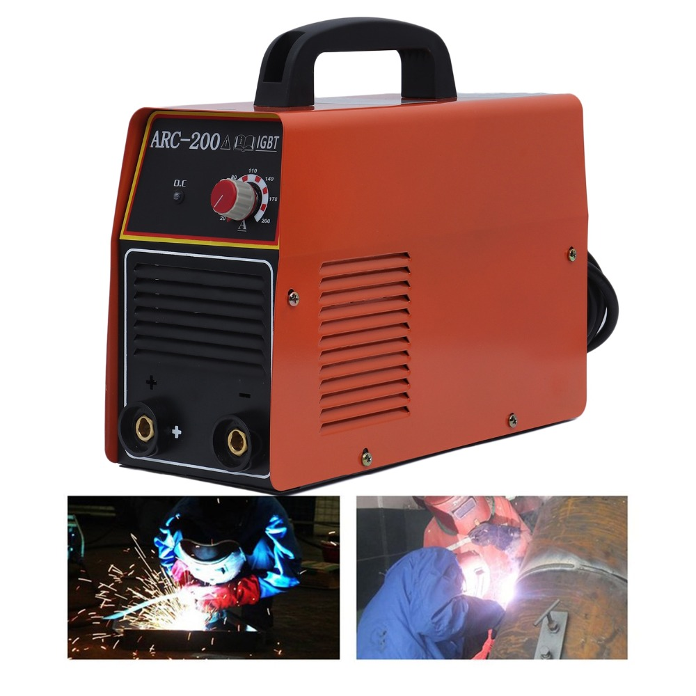 Portable ARC-200 Inverter DC Welding Machine 180-240V All Copper Core Household Miniature Electric Welding MachinePortable ARC-200 Inverter DC Welding Machine 180-240V All Copper Core Household Miniature Electric Welding Machine