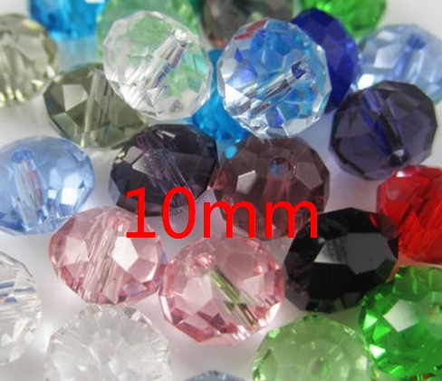 10mm 100pcs/lot loose strand Mixed white black Faceted Rondelle Glass Crystal Beads curtains Bracelet jewelry DIY accessory u467
