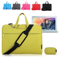 For Apple MacBook Air 11, 11.6 Inch Laptop Shoulder Bag Sleeve Case Carrying Briefcase Bag w/ Handle & Strap + Accessories Case