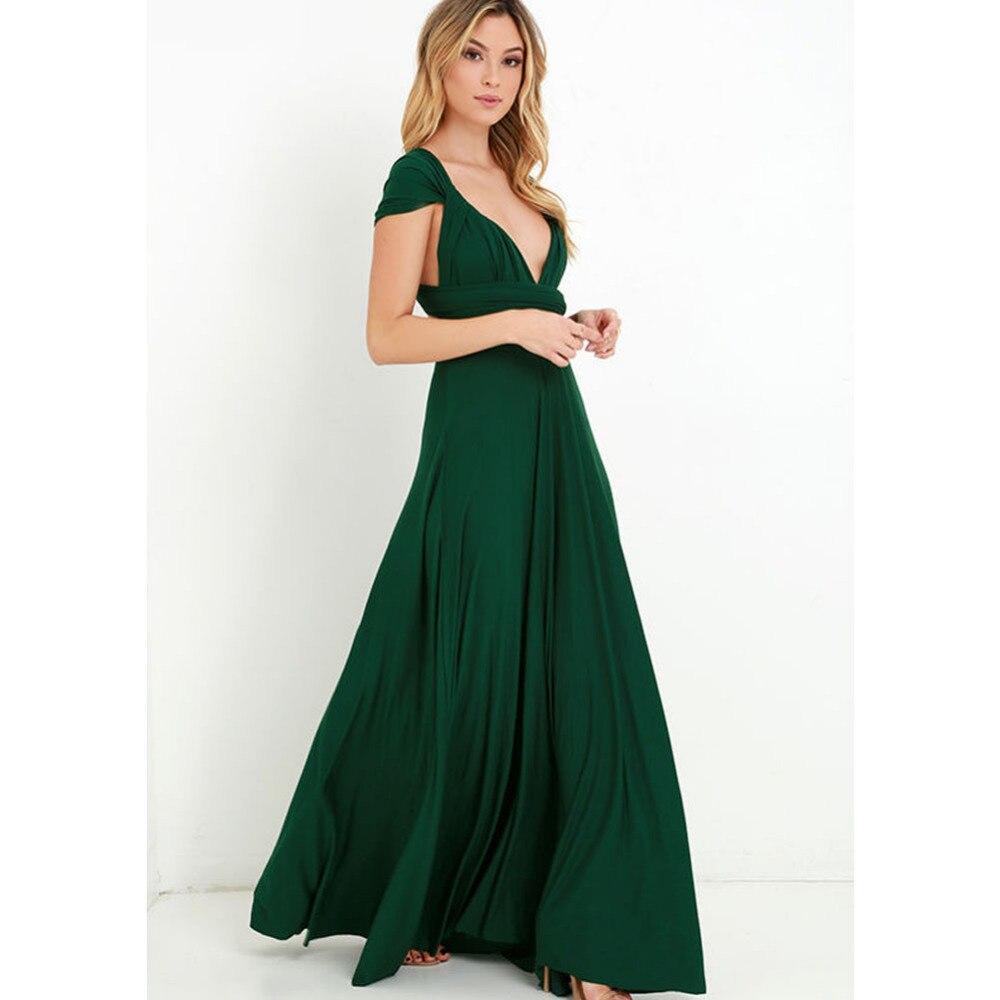 новый зимний сексуальные женщины макси платье красный пляж длинное платье многостороннего подружек невесты кабриолет обернуть бальные платья одеяние лонге фам