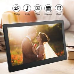12.5Inch IPS Screen Metal Digital Photo Frame Electronic Clock Movie Player with Remote cadre photo numerique music video player