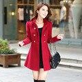 Бесплатная доставка, популярное в 2015  новое женское удлиненное придающее стройность изящное пальто с длинными рукавами