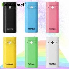Kebidumei 2X 18650 bricolage boîte USB batterie chargeur de batterie étui pour téléphone pauvres pour iPhone portable charge batterie externe