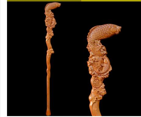 Mahogany wood carved old cane crutches leading cane Walker birthday gift gift Hand-carved Rosewood Dragon Head Cane