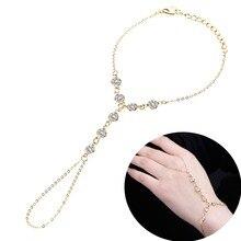 US $1.17 35% OFF|Vintage Crystal Finger Bracelets & Bangles Luxury Slave Hand Link Chain Bracelet For Women Rhinestone Boho Jewelry Sainio-in Chain & Link Bracelets from Jewelry & Accessories on Aliexpress.com | Alibaba Group