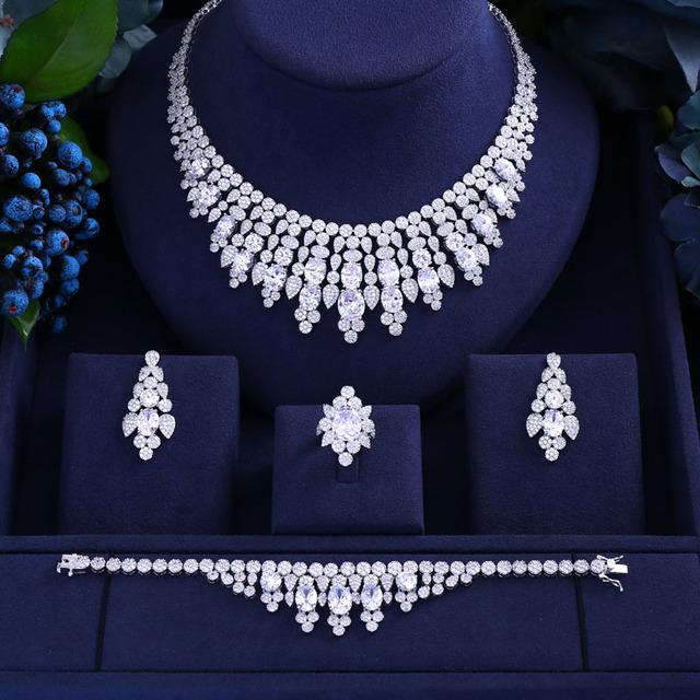 Cubic Zirconia CZ Stone Jewelry Set