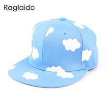 ladies hip hop hats pink and blue clouds in summer fresh and