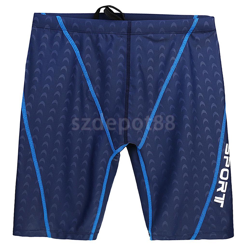 Men Swimming Beach Shorts Swim Trunks Gym Swimsuit Half Leg Pants Blue L-4XL
