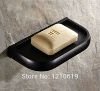 Newly Arrival US Free Shipping Oil Rubbed Bronze Bathroom Soap Holder Brief Simple Soap Dish Soap