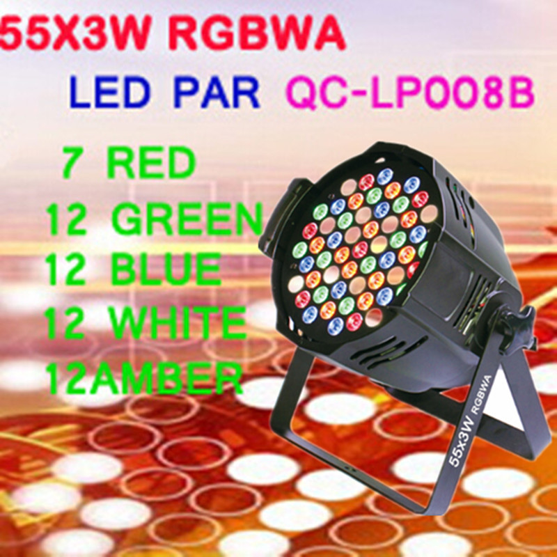 55x3W RGBWA LED PAR 64 led par light