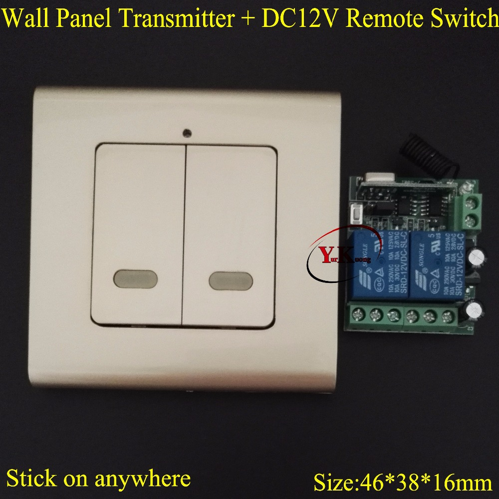 Ac 220v 2 Ch Way Relay Remote Switch Contact No Com Nc Rf Wireless Colours Dc12v Mini 2ch Receiver Transmitter Wall Panel Stick Key Champagne