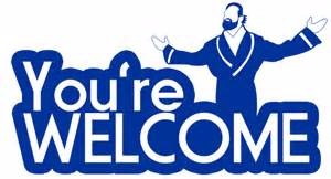 you\'re welcome