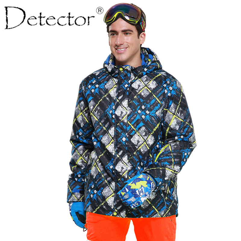 Detector Men's Ski Print Winter Outdoor Ski Suit Height Waterproof Breathable Ski Warm Snowboard