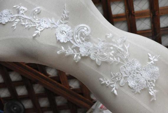 Apliques de encaje Marfil Costura Flor floral Motivo Venise Apliques - Artes, artesanía y costura