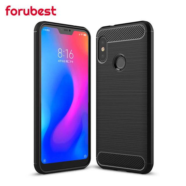 separation shoes 7bbc4 1ab6b US $2.49 10% OFF|Forubest for Xiaomi Mi A2 Lite Case Cover Redmi 6 Pro  Cover Soft Silicone Case Carbon Armor Phone Case For Mi A2 Lite -in Fitted  ...