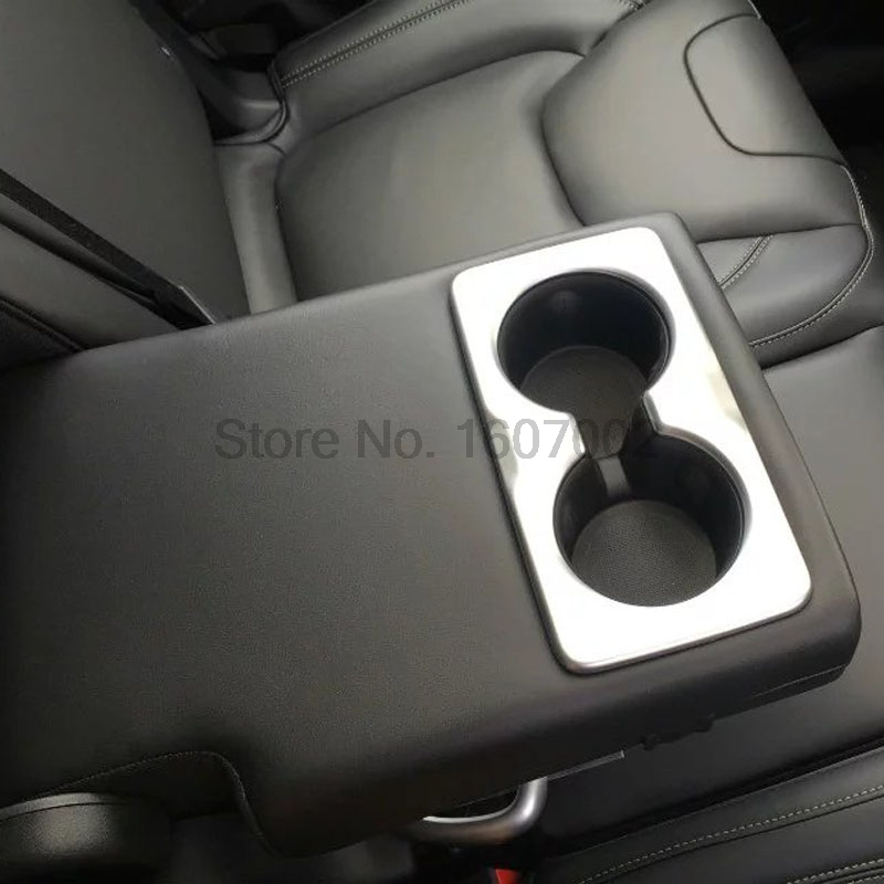 For Jeep Cherokee 2014 2015 ABS Chrome Car Inner Rear Seat Water Cup Holder Cove Trim Decoreation Interior Accessories