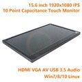 15.6 Дюймов 1920x1080 IPS 10 Точка Емкостной Сенсорный Дисплей Монитора воздушный Экран ЖК-Модуль AD TV HDMI Raspberry Pi Xbox PS4