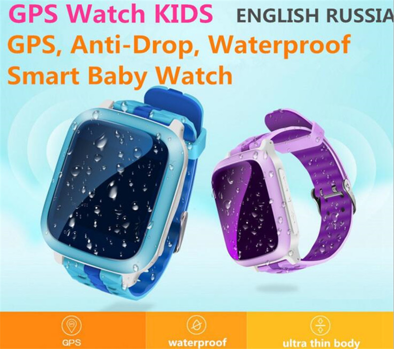 Touch Screen GPS Smart Watch Wristwatch SOS Location Finder Locator Tracker Kid Safe Monitor Smartwatch Waterproof Relogio F30 ds18 waterproof smart baby watch gps tracker for kids 2016 wifi sos anti lost location finder smartwatch for ios android pk q50