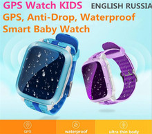 Touch Screen GPS Smart Watch Wristwatch SOS Location Finder Locator Tracker Kid Safe Monitor Smartwatch Waterproof Relogio F30