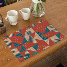 Geometric Figure Table Mat Tableware  Placemats for Kitchen and Dining Cup Tea Party Decorations Linen