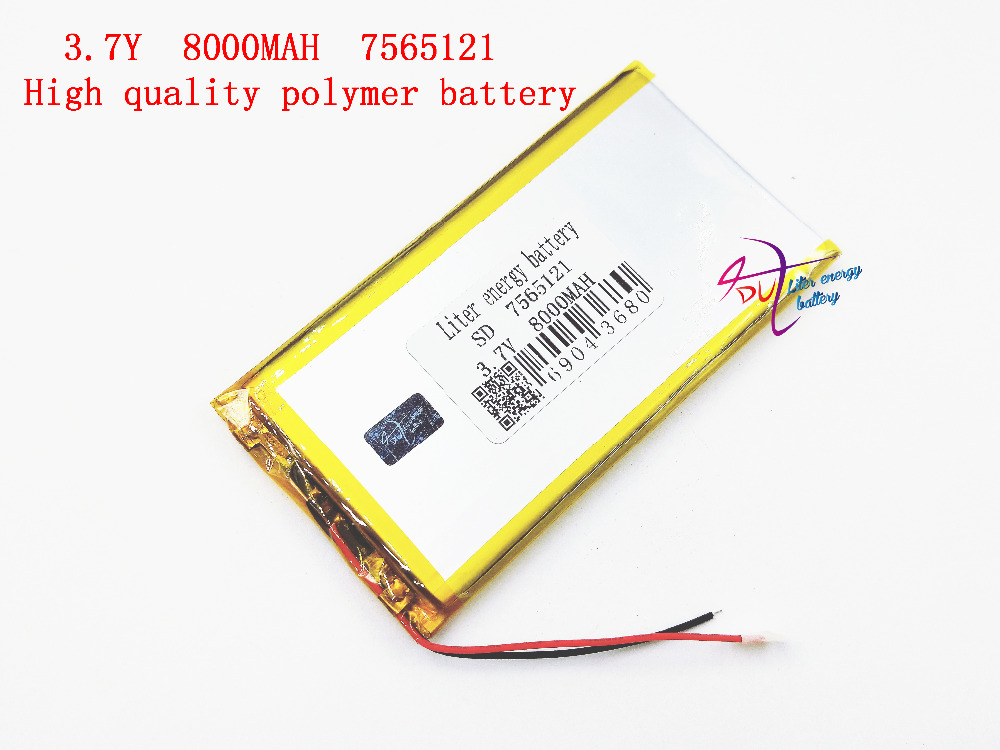 best battery brand 3.7 V 7565121 lithium polymer battery 8000mah rechargeable batteries  ...
